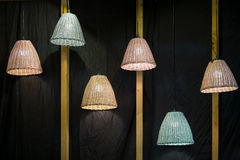 Decorating hanging lantern lamps Stock Photos