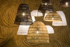 Decorating hanging lantern lamps Royalty Free Stock Photography