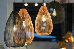 Decorating hanging lantern lamps Stock Image