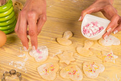 Homemade cookie decoration Stock Photos