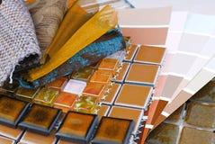 Decorating and interior design choice. Close up of the decorating and interior design choice Stock Photos