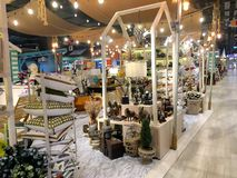 The decorating item in its shop at Blueport Department store Hua Hin, Thailand June 28, 2018 stock photography