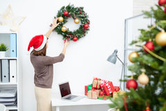 Decorating office Royalty Free Stock Photos