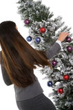Decorating Office Tree Stock Image