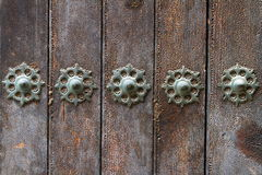 Decorating old doors Royalty Free Stock Image