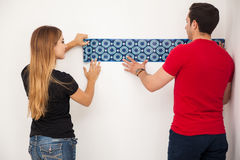 Decorating our new home Stock Photography