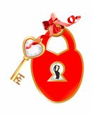 Decorating with padlock and key, Stock Photo