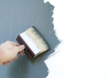 Decorating with paintbrush Stock Photo