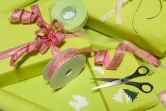 Decorating presents Stock Photos