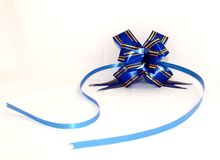 Decorating Tape. Blue and gold decorating tape stock photos