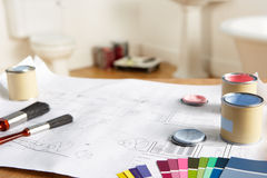 Decorating tools and materials Royalty Free Stock Photography
