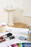 Decorating tools and materials Stock Photography