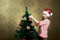 Decorating a tree Stock Photography