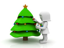 Decorating tree Stock Photography