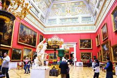 Decorating the walls of the Hermitage. In St-Petersburg Royalty Free Stock Images