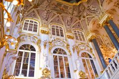 Decorating the walls of the Hermitage. In St-Petersburg Royalty Free Stock Photo