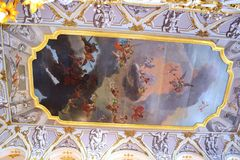 Decorating the walls of the Hermitage. In St-Petersburg Stock Images