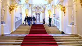 Decorating the walls of the Hermitage. In St-Petersburg Royalty Free Stock Photography