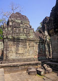 Decorating the walls of Khmer temple Stock Photos