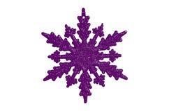Decoratio púrpura del árbol de navidad de la historieta de la forma de la estrella Foto de archivo