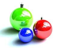 decoratiob de Noël de babioles Illustration Stock