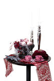 Decoration. Christmas table decoration isolated. With clipping path Royalty Free Stock Photos