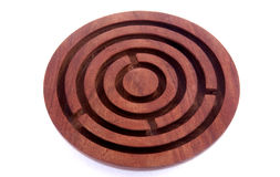 Decoration. Isolated wood decoration labyrinth cute Royalty Free Stock Photo