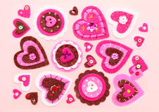 Decoration. Handmade decoration on pink background Royalty Free Stock Photos