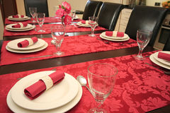 Decoration. Table set for a dinner Stock Photos