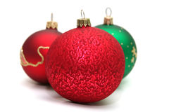 Decoration. Colorful decoration balls isolater on white Royalty Free Stock Images