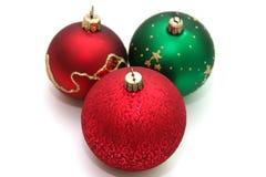 Decoration. Colorful decoration balls isolated on white Stock Photo