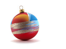Decoration. New-year ball is isolated on a white background Stock Photo