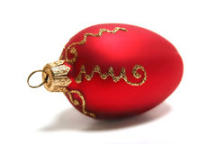 Decoration. Red decoration isolated in white Stock Photo