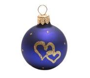 Decoration. Blue decoration ball isolated on white Stock Photos