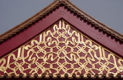 Decoration. On a roof of a chinese house stock image