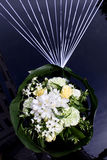 Decoration. Wedding car decoration with natural flowers Stock Images