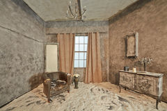 Decoration of abandoned room Stock Photography