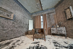 Decoration of abandoned room Stock Image