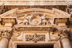 Decoration above entrance in baroque style Royalty Free Stock Photos