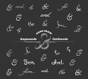 Decoration ampersands and catchwords Royalty Free Stock Photos