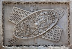 Decoration from the Ancient Roman Temple Royalty Free Stock Images