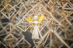 Decoration angels from straw Royalty Free Stock Images