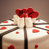 Decoration of an Anniversary Cake Royalty Free Stock Image