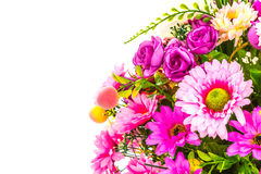 Decoration artificial flowe. On background Stock Photos
