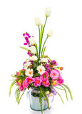 Decoration artificial flowe. On background Royalty Free Stock Image