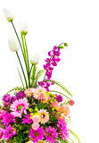 Decoration artificial flowe. On background Stock Images