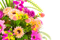 Decoration artificial flowe. On background Royalty Free Stock Photography