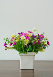 Decoration artificial flower pot Royalty Free Stock Image