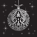 Decoration ball Maori koru white xmas bauble for Christmas tree stock photos