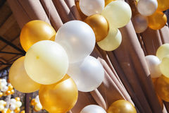 Decoration with balloons Royalty Free Stock Images